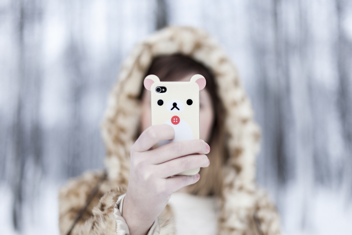 phone case winter girl zima
