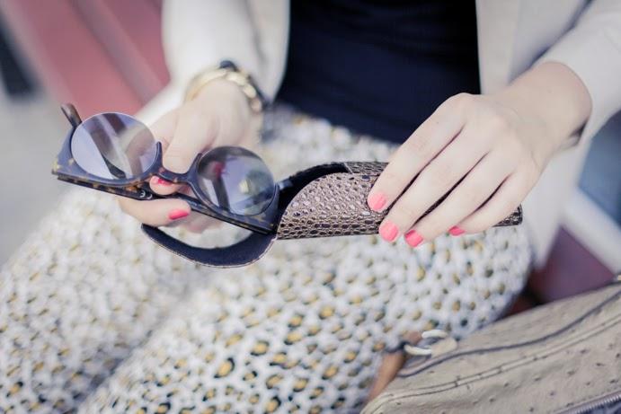 Sunglasses okulary przeciwsłoneczne paznokcie