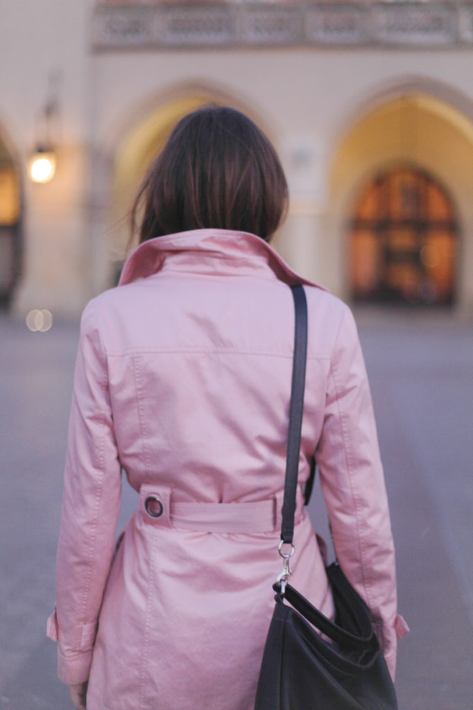street style fashion pink coat