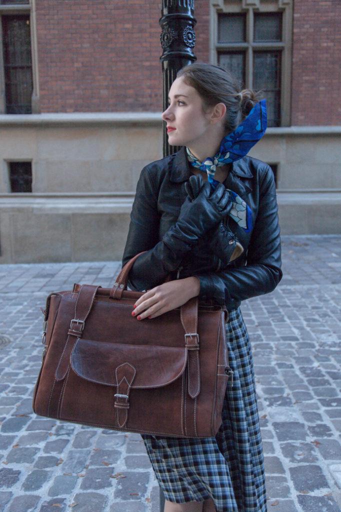 Skórzana podróżna torba