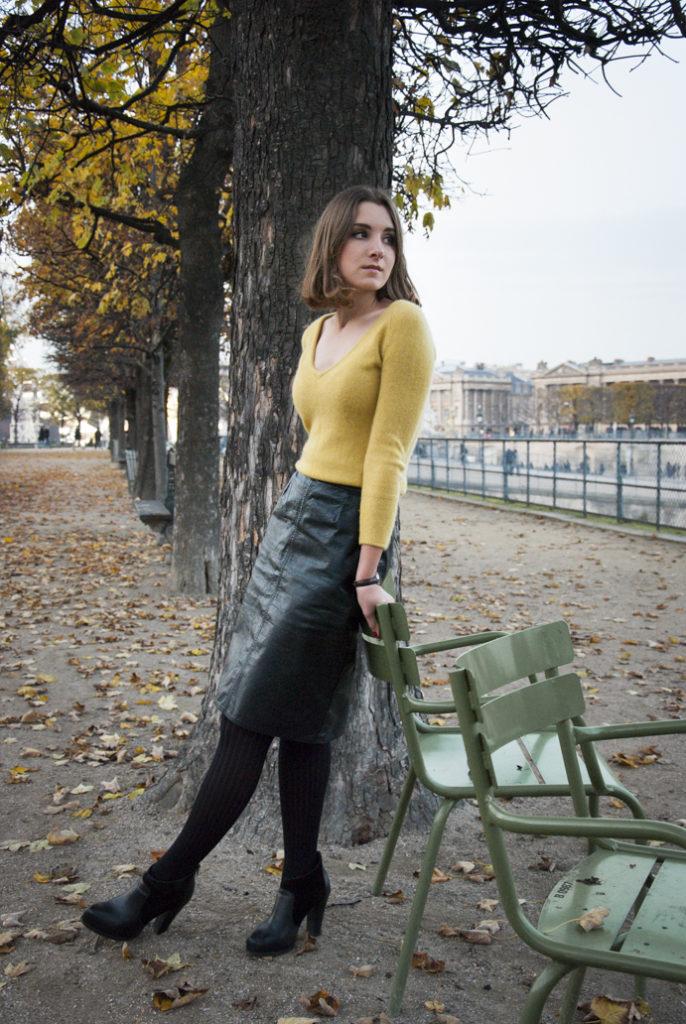 park styl elegancja jesień kobieta