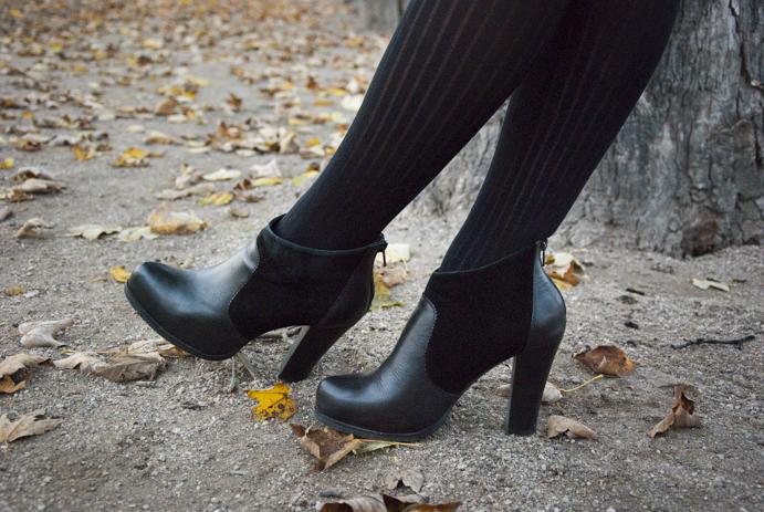 Paryż park Jardin des Tuileries buty jesień