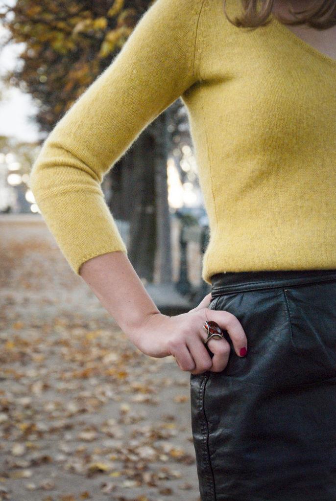 Paris autumn style cashmere park