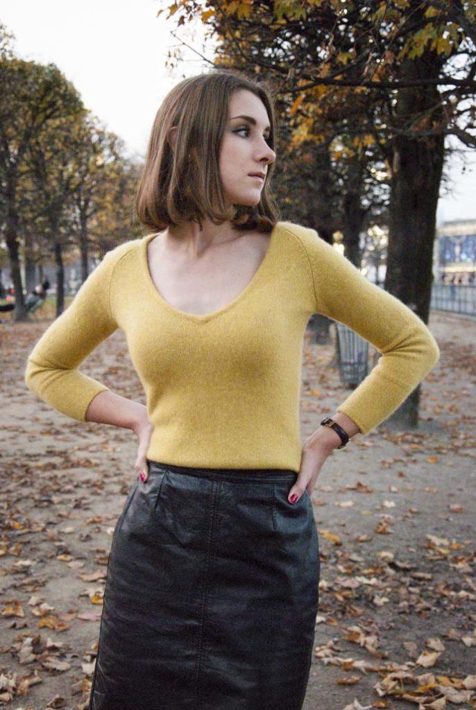 woman style jesień park Paryż francuzka