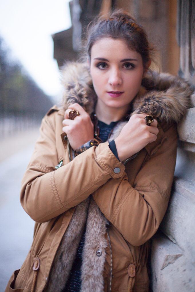 jewelry etnic girl parka