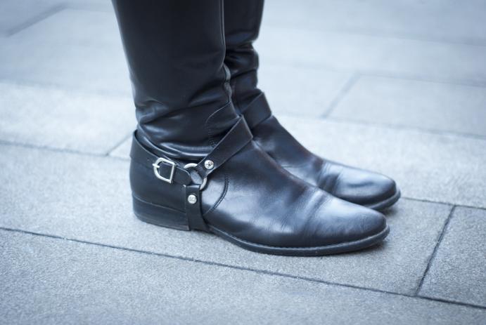 skórzane zimowe buty