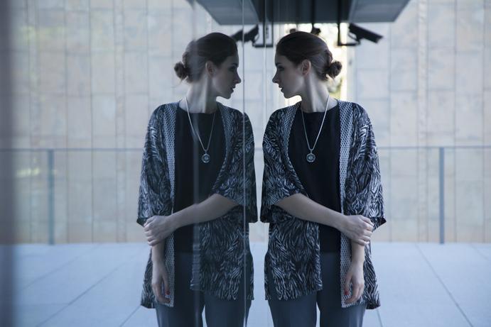 kimono minimal elegant woman