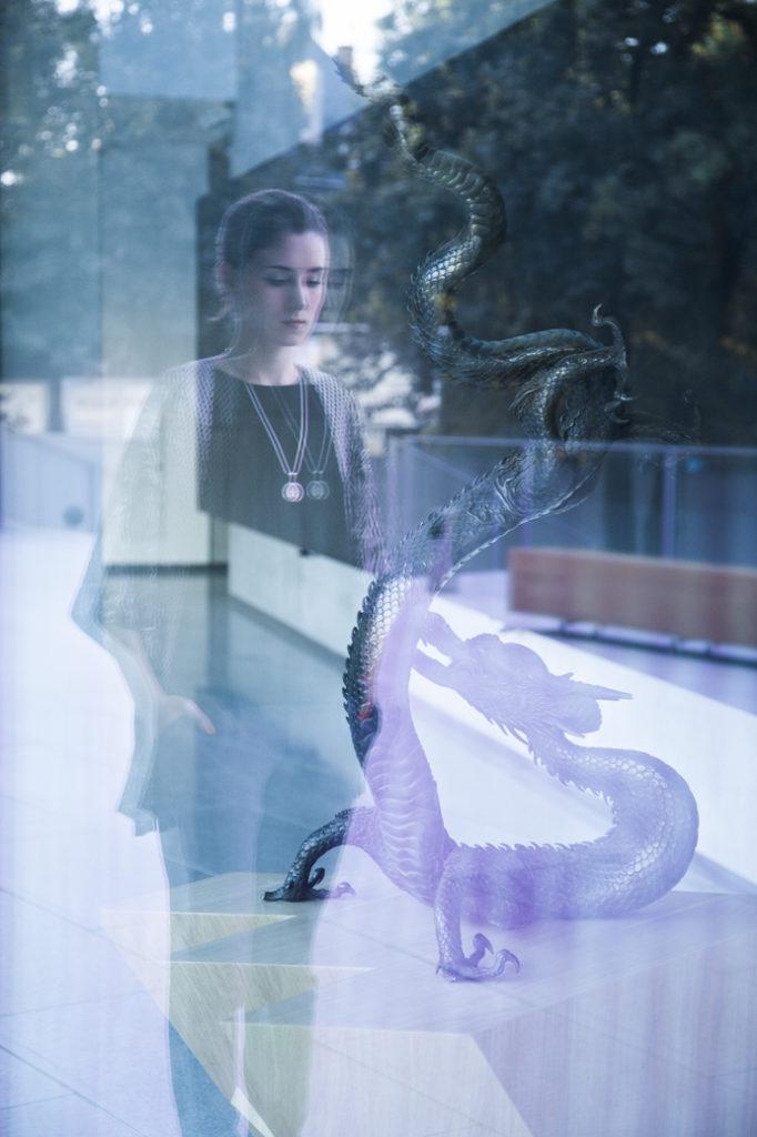 dragon smok kobieta styl kraków