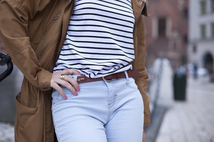 styl classic timeless stripes parka