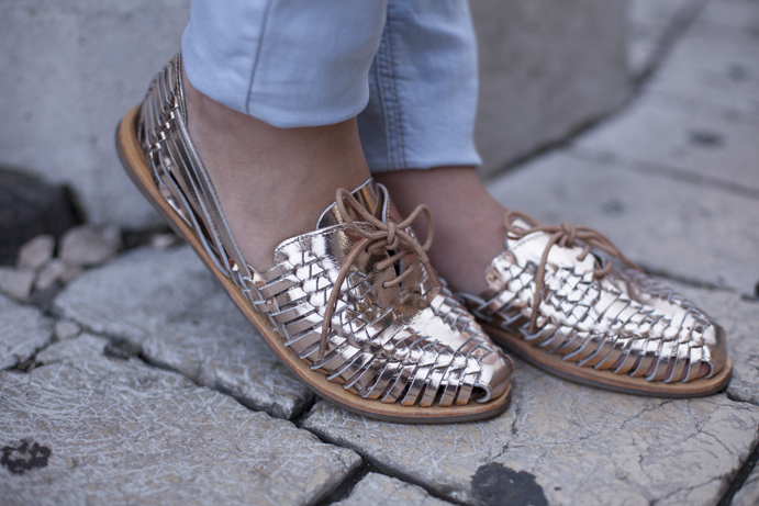 shoes gold style but