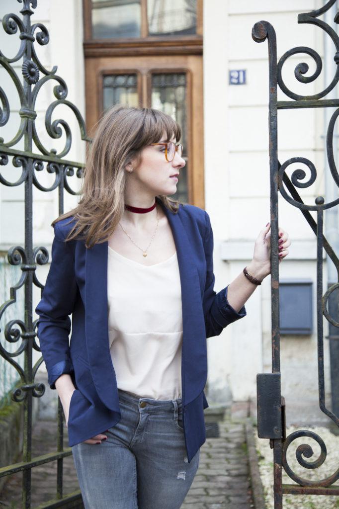 woman glasses ocular styl klasycznie paris