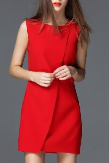 minimalist-red-dress-wedding