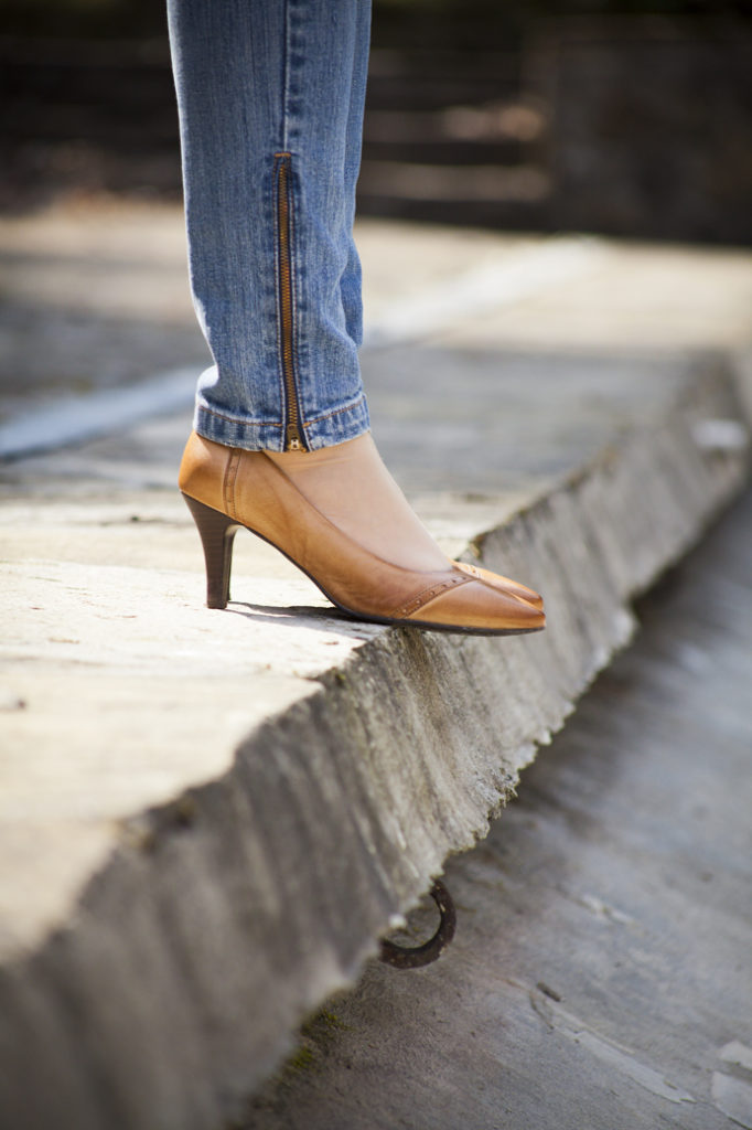 jeans heels camel powrót do blogowania