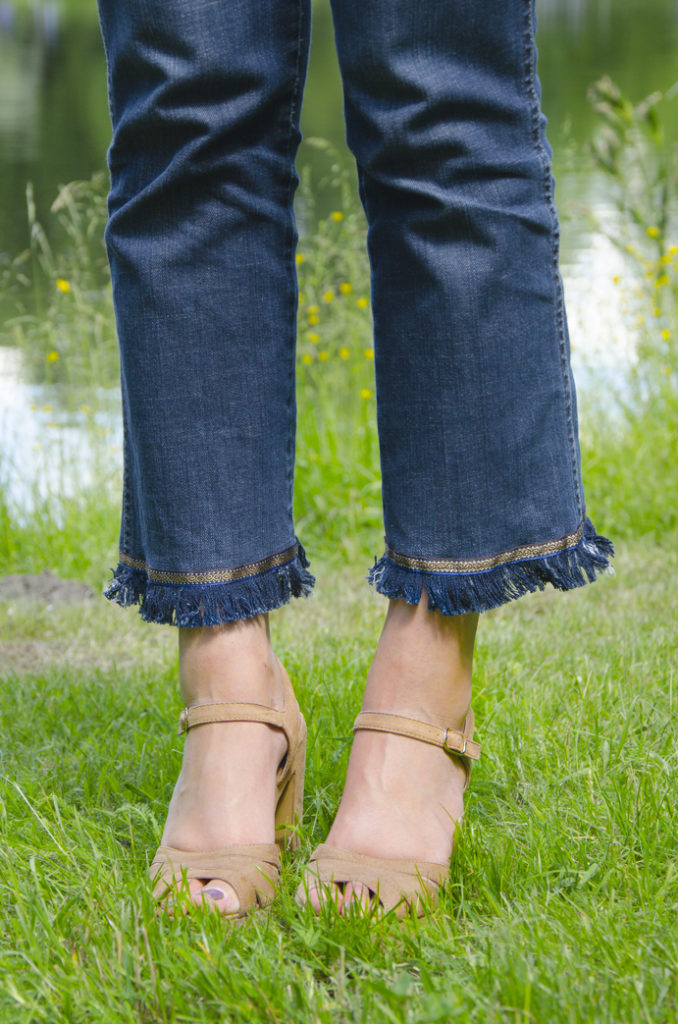 diy jeans cropped style trend