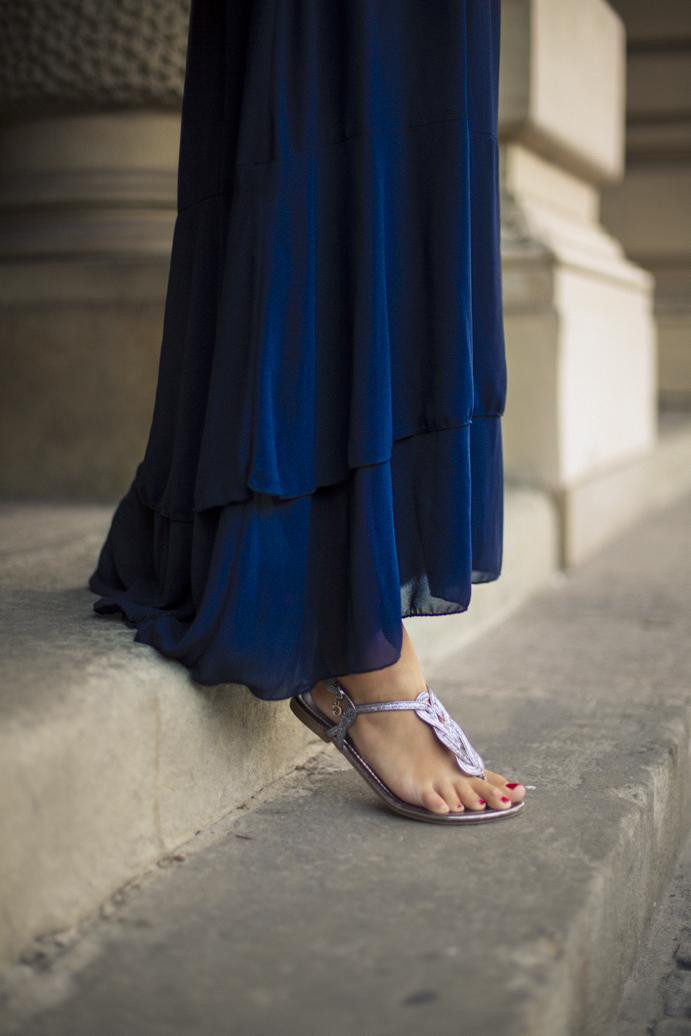 sandały suknia styl moda blog
