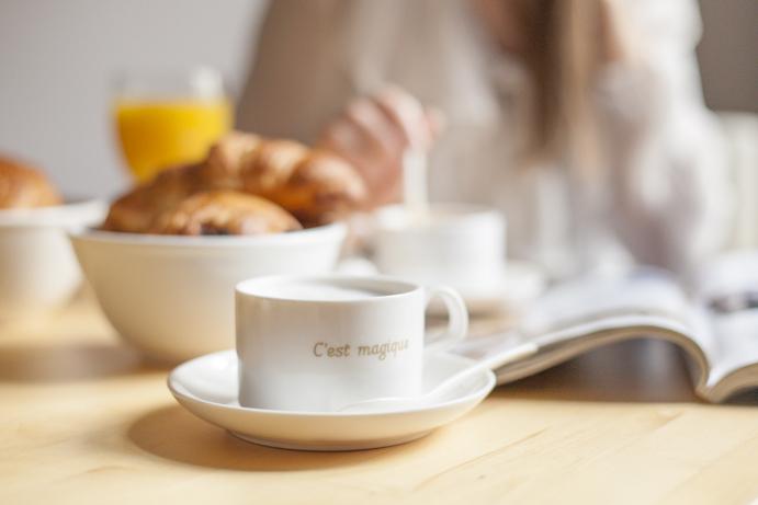 śniadanie kawa szczęście piekne chwile