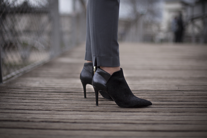 black elegant shoes details