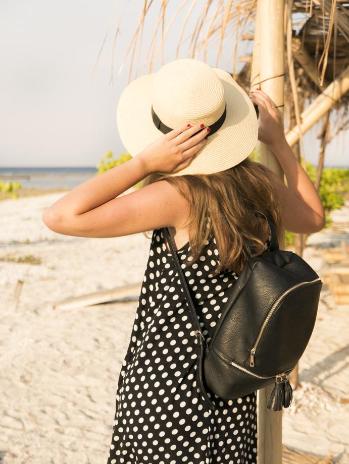 black elegant backpack